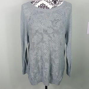 Moth Anthropologie Teal Sweater Size XL